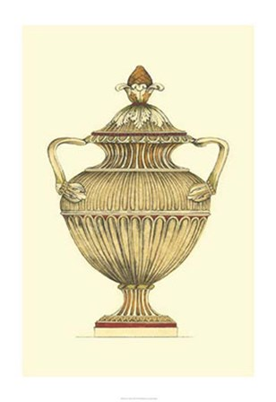 Neutral Urn Sketch IV by Jennifer Goldberger art print