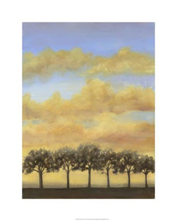 Treeline Sunset I by Jennifer Goldberger art print