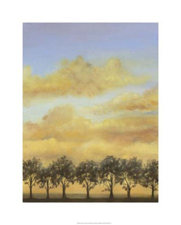 Treeline Sunset II by Jennifer Goldberger art print