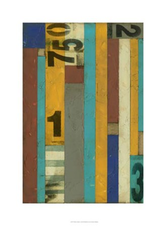 Primary Numbers I by Jennifer Goldberger art print