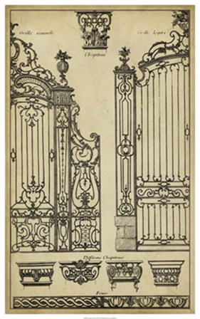 Vintage Gate II by J. F. Blondel art print