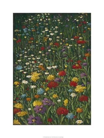 Bright Wildflower Field I by Megan Meagher art print