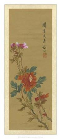 Oriental Floral Scroll I art print