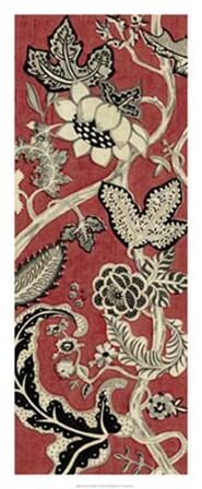 Crimson Embroidery II by Chariklia Zarris art print