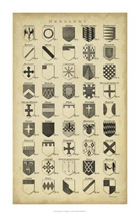Vintage Heraldry I by C.E. Chambers art print