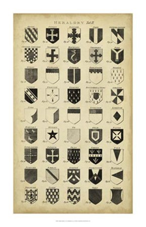 Vintage Heraldry II by C.E. Chambers art print