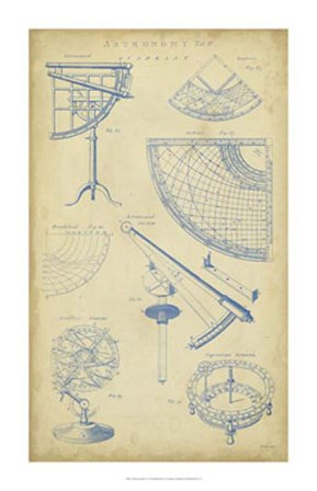 Vintage Astronomy I by C.E. Chambers art print