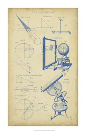 Vintage Astronomy II by C.E. Chambers art print