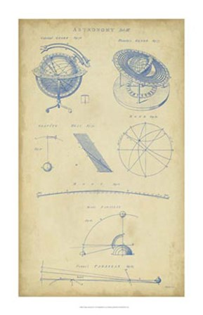 Vintage Astronomy III by C.E. Chambers art print