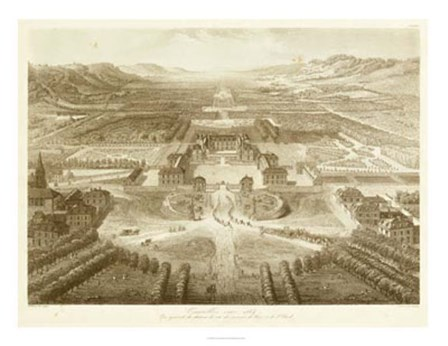 Bird's Eye View of Versailles by Victor Petit art print