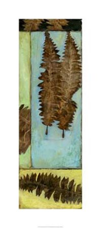 Fossilized Ferns I by Jennifer Goldberger art print