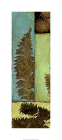 Fossilized Ferns II by Jennifer Goldberger art print