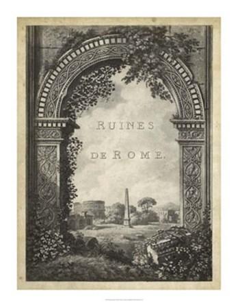 Ruines de Rome art print
