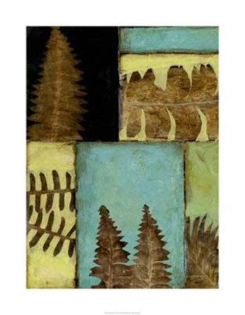 Fossilized Ferns III by Jennifer Goldberger art print