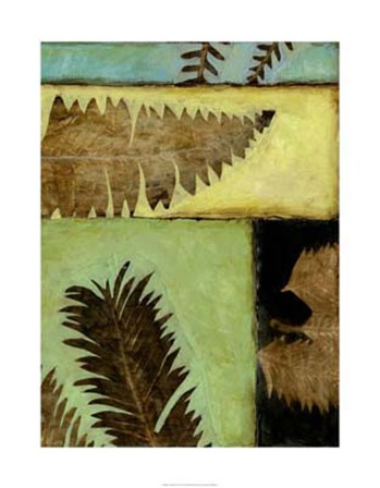 Fossilized Ferns IV by Jennifer Goldberger art print