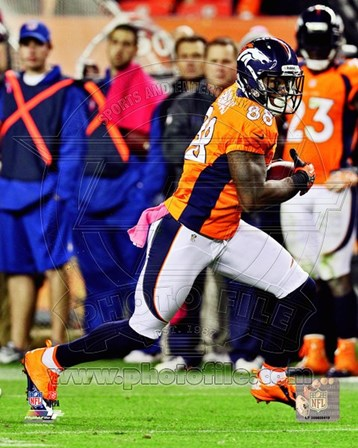 Demaryius Thomas 2012 with the ball art print