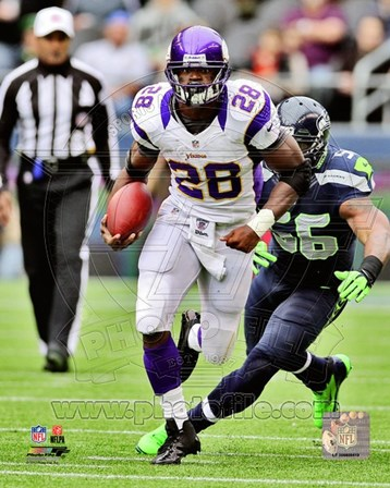 Adrian Peterson 2012 Action art print