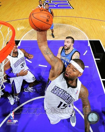 DeMarcus Cousins on the court 2012-13 art print