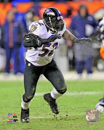 Ray Lewis 2012 AFC Divisional Playoff Game Action art print