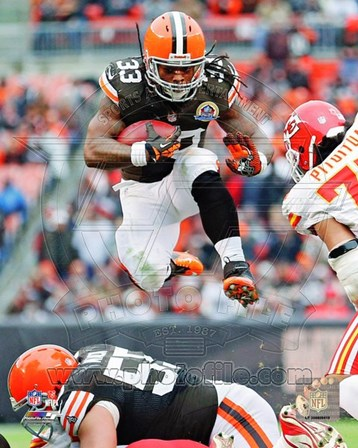 Trent Richardson 2012 Football Action art print