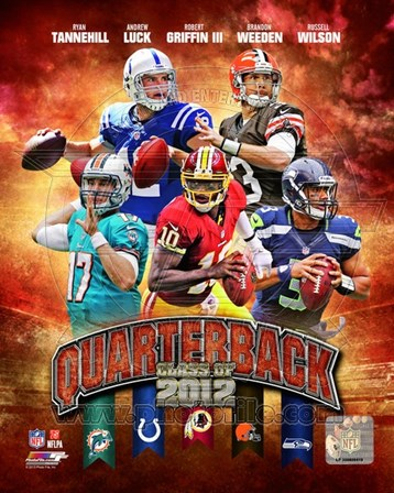 Quarterback Class of 2012 Composite art print
