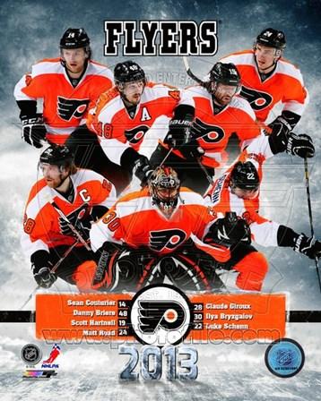 Philadelphia Flyers 2012-13 Team Composite art print