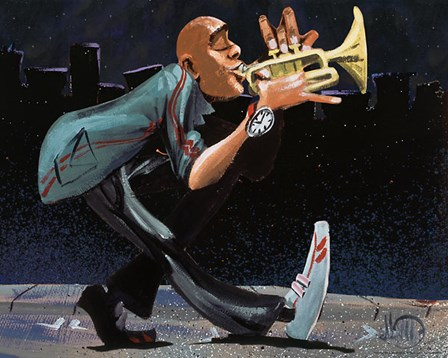 Modern Jazz Step by David Garibaldi art print