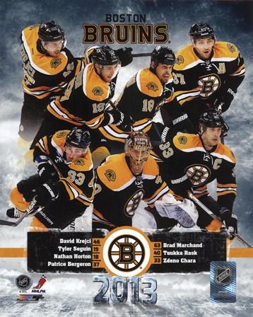 Boston Bruins 2012-13 Team Composite art print