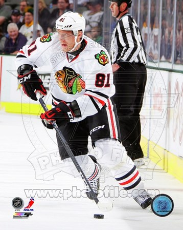 Marian Hossa in action 2012-13 art print