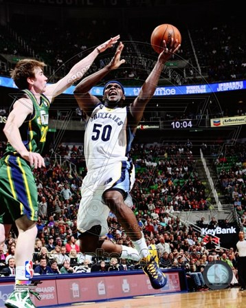Zach Randolph 2012-13 on the court art print