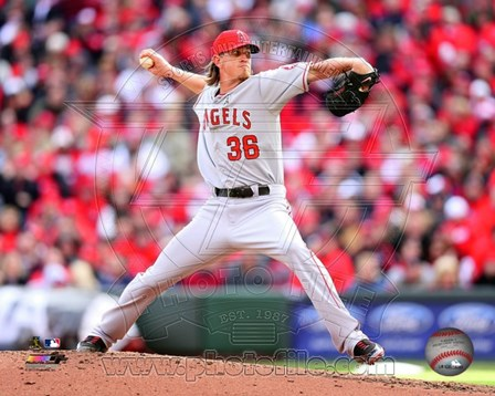 Jered Weaver 2013 art print