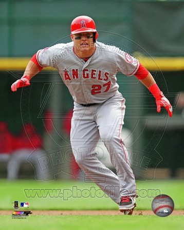 Mike Trout 2013 Action art print