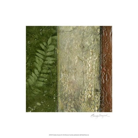 Earthen Textures II by Beverly Crawford art print