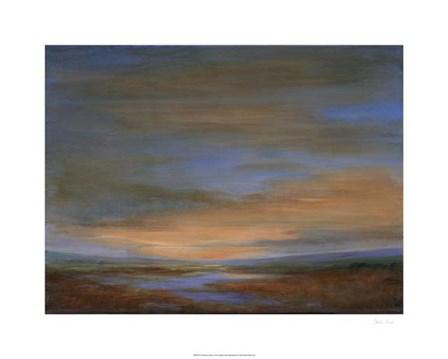 Wetlands Sunset by Sheila Finch art print