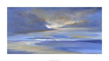 Surfer's Beach Sky by Sheila Finch art print