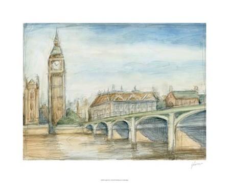 London View by Ethan Harper art print