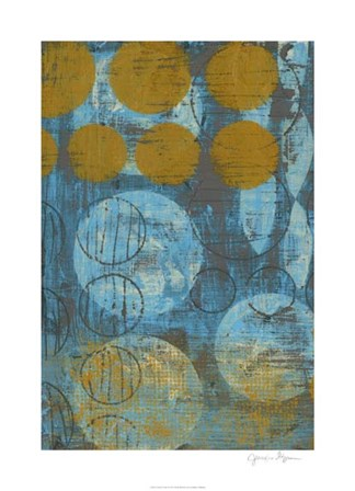 Textured Circles I by Jennifer Goldberger art print