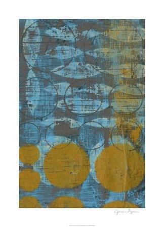 Textured Circles II by Jennifer Goldberger art print