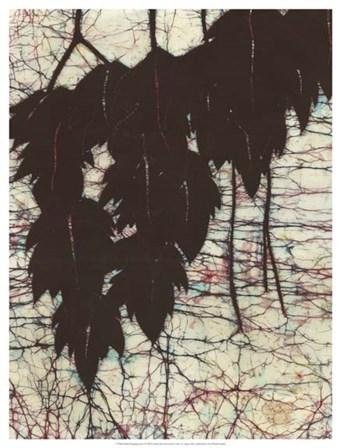 Batik Hanging Leaves I by Andrea Davis art print