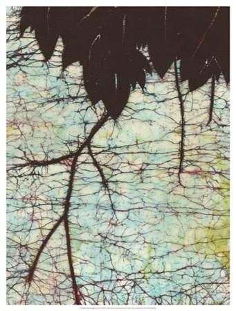 Batik Hanging Leaves II by Andrea Davis art print