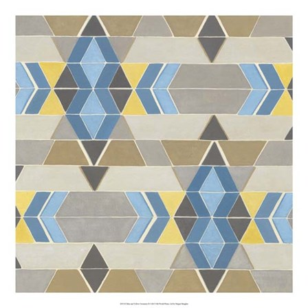 Blue and Yellow Geometry II by Megan Meagher art print