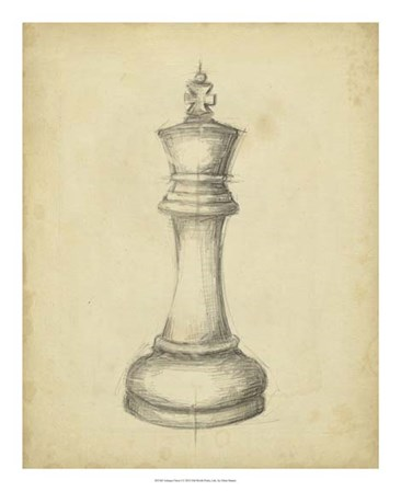 Antique Chess I by Ethan Harper art print