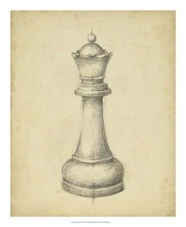 Antique Chess III by Ethan Harper art print
