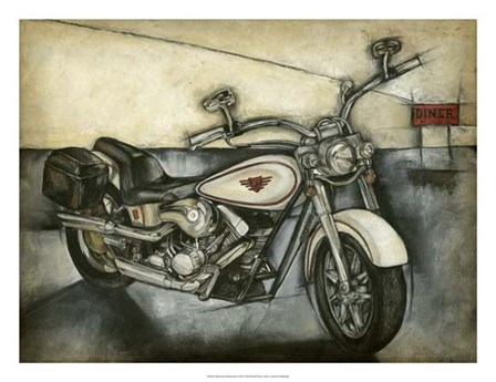 Motorcycle Memories I by Jennifer Goldberger art print