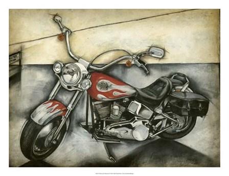 Motorcycle Memories II by Jennifer Goldberger art print