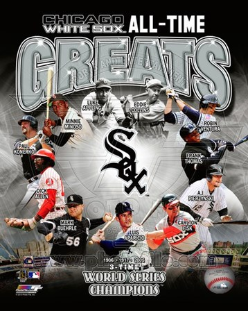 Chicago White Sox All Time Greats Composite art print