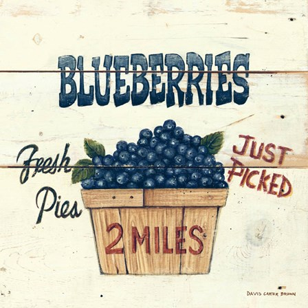 Blueberries Just Picked by David Carter Brown art print