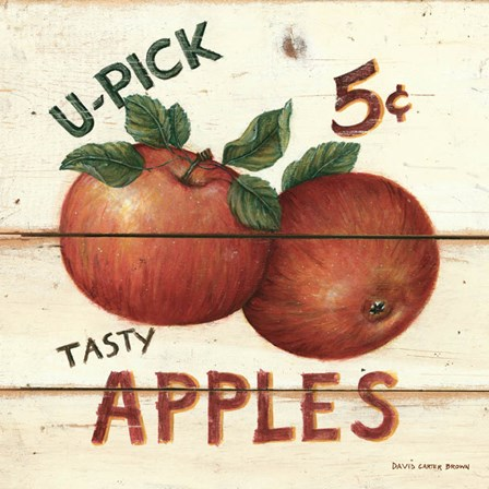 U-Pick Apples by David Carter Brown art print
