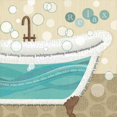 Dancing Bubbles II by Veronique Charron art print