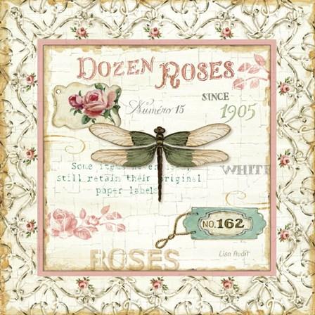 Rose Garden VI by Lisa Audit art print